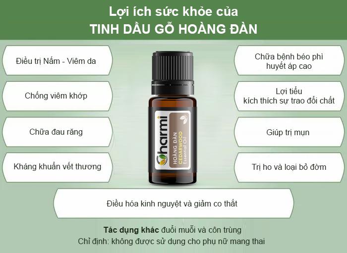 Lợi ích sức khỏe tinh dầu hoàng đàn