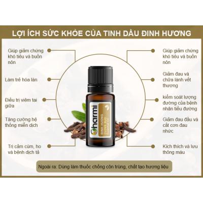 Lợi ích sức khỏe tinh dầu đinh hương